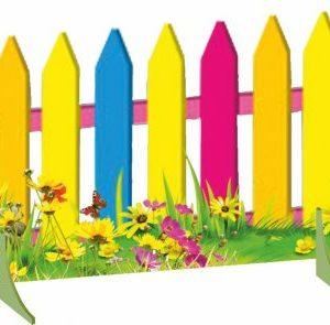 """Декорация """"Разноцветный забор"""""""