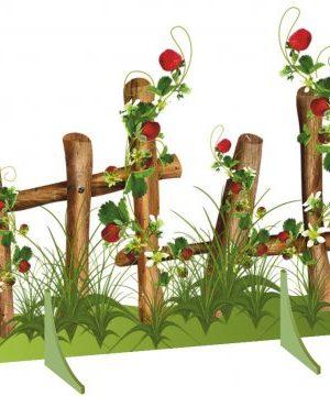 """Декорация напольная """"Забор с листьями и ягодами"""""""