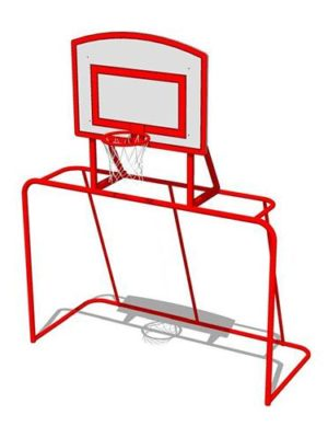 Ворота детские с баскетбольным щитом