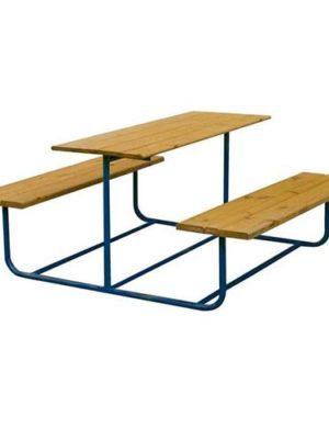 Столик со скамьями металл 1,5 м