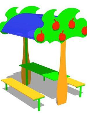 """Стол со скамьями """"Яблонька"""""""