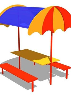 "Стол со скамьями ""Зонтик"""
