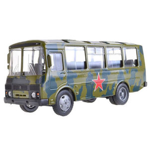 """Машина """"ПАЗ-32053"""" армейский, 1:43"""