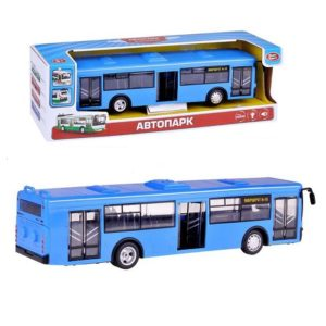 """Инерционный автобус """"Автопарк"""" со световыми и звуковыми эффектами"""