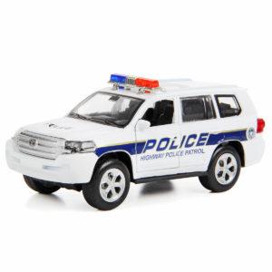 """Машина металлическая, инерционная """"Toyota Land Cruiser Police Car"""""""