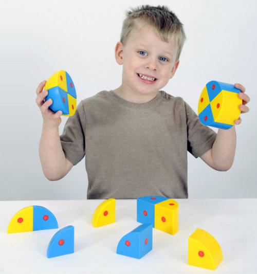 """Набор Полидрон Магнитные блоки 3D """"Сферы и цилиндры"""""""