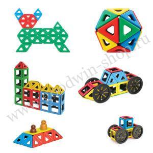 комплект магнитных геометрических конструкторов
